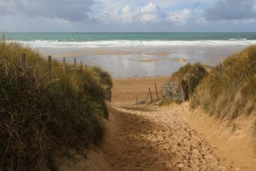 Sand dunes, Fistral Beach, Newquay