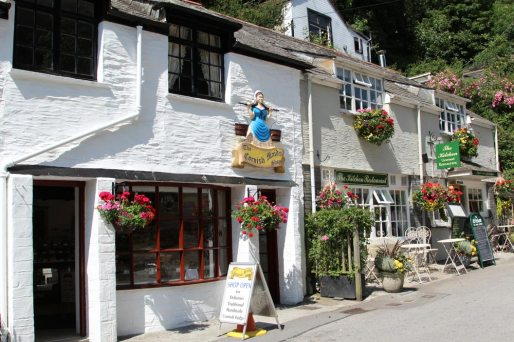 The Cornish Maids Shop and The Kitchen Restaurant, Polperro