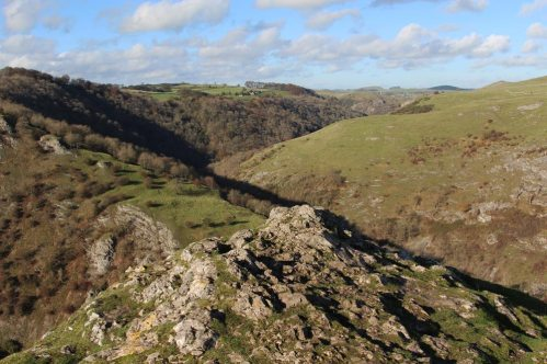 Dovedale, from summit of Thorpe Cloud