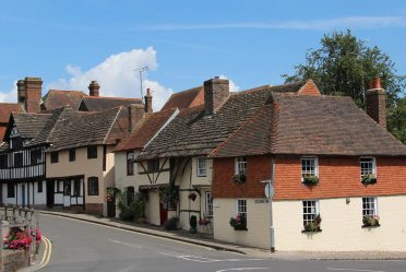 Medieval cottages, Church Street, Steyning