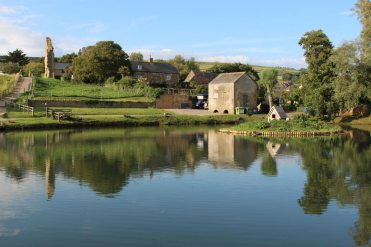 Mill Pond and Abbey House Guest House, Abbotsbury