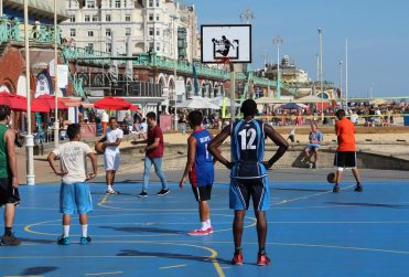 Basketball, beach, Brighton