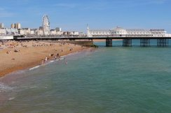 Brighton Pier and beach, Brighton