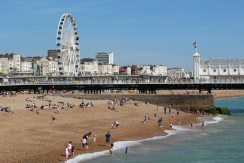 Brighton Wheel, Brighton Pier and beach, Brighton