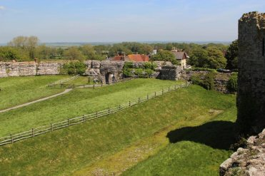 East Gate and Roman Curtain Wall, Pevensey Castle, Pevensey