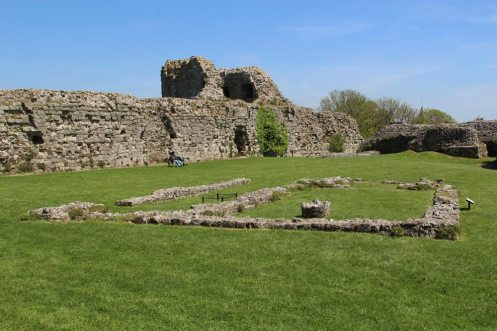 Foundations of the Chapel, Inner Bailey, Pevensey Castle, Pevensey