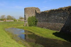 North Tower and Moat, Pevensey Castle, Pevensey