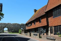 The Old Mint House and the East Gate, Pevensey Castle, Pevensey