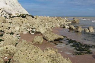 Chalk boulders, Falling Sands, Beachy Head