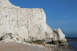 Chalk stack, East Cliff, Splash Point, Seaford