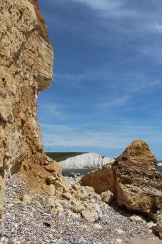 Cliff fall and Seven Sisters, Hope Gap