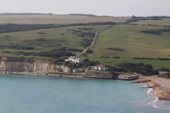 Coastguard Cottages, Cuckmere Haven, from Seven Sisters