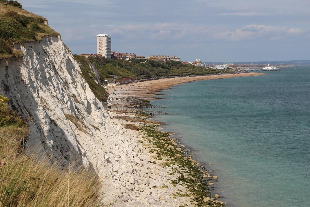 Holywell and Eastbourne, from Cow Gap, Beachy Head