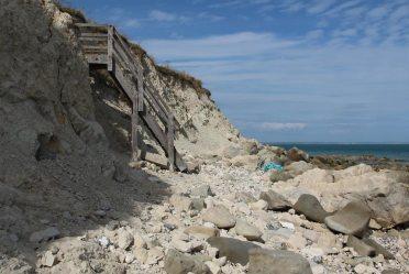 Steps to beach, Cow Gap, Beachy Head