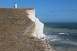 Chalk cliffs, below Belle Tout Lighthouse, Beachy Head