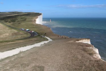Hodcombe and Beachy Head Road, from Belle Tout Lighthouse
