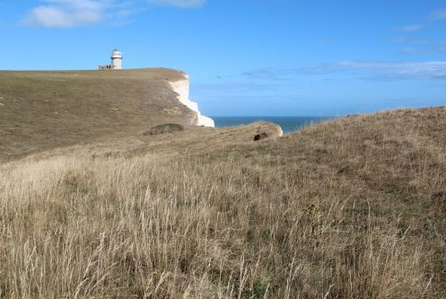 South Downs Way cliff path, Cuckmere Haven to Belle Tout Lighthouse, Beachy Head