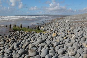Eroded breakwater, Pebble Ridge, Westward Ho!