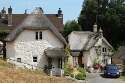 Thatched cottages, Lustleigh
