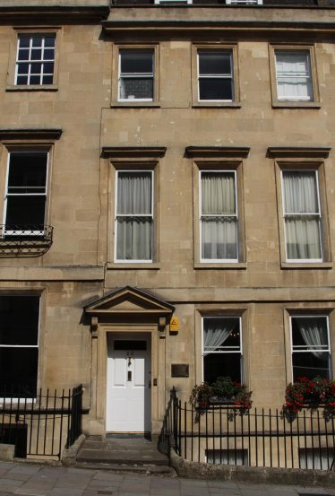 25 Gay Street, Jane Austen, Cassandra and her mother's lodgings, Bath