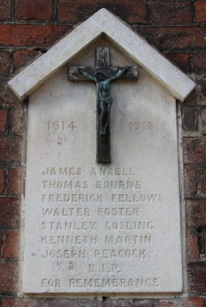 First World War Memorial to residents of Fishpool Street, St. Albans