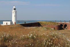 Hurst Lighthouse, from Hurst Castle, Milford-on-Sea