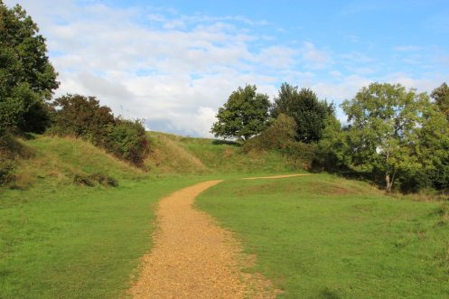 Path below Iron Age Ramparts, Ham Hill Country Park