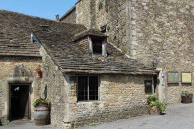Side entrance, The George Inn, Norton St. Philip