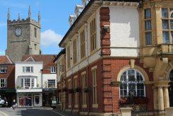 St. Mary's Church Tower and Town Hall, Marlborough