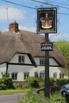 The Crown Inn pub sign, Bishops Cannings