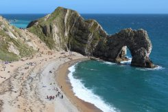 Durdle Door and Durdle Door Beach, from path to Swyre Head