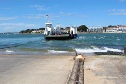 "Sandbanks Ferry ""Bramble Bush Bay"" chain ferry, leaving Studland for Sandbanks"