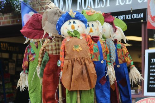 Scarecrows, Burley Coach House, Burley, New Forest