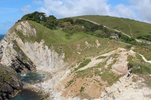 Stair Hole and coast path to Durdle Door, Lulworth Cove