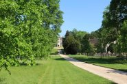 Driveway, leading to Chawton House Library and St. Nicholas Church, Chawton