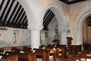 Nave and North Aisle, St. Nicholas Church, Compton