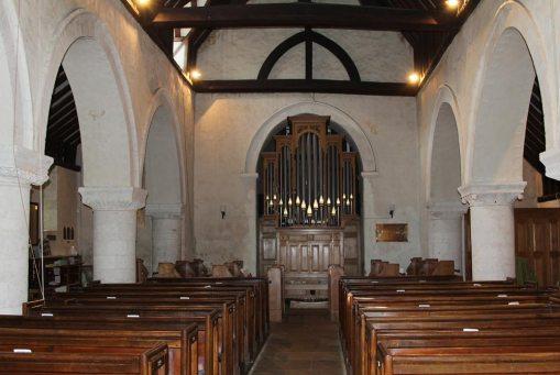 Organ, from the Nave, St. Nicholas Church, Compton