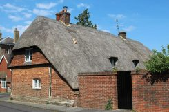Thatched roof, Denmead Cottage, Chawton