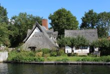 Bridge Cottage and the National Trust Gift Shop and Tea Room, Flatford