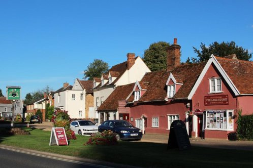 Duck or Grouse Village Store, Newmans Cottages, The Green, Cavendish