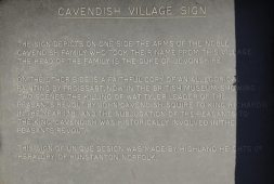 Information on village sign, Cavendish