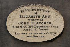 Memorial to Elizabeth Ann Thatcher, Thatcher Family Memorials, St. Mary's Church, Uffington