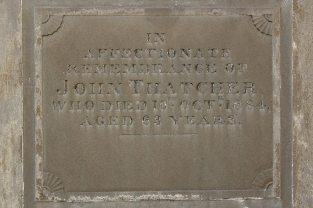 Memorial to John Thatcher, Thatcher Family Memorials, St. Mary's Church, Uffington