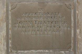 Memorial to John Thatcher, Thatcher Family Memorials, St. Mary's Church, Uffington