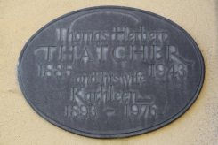 Memorial to Thomas Herbert and Kathleen Thatcher, Thatcher Family Memorials, St. Mary's Church, Uffington