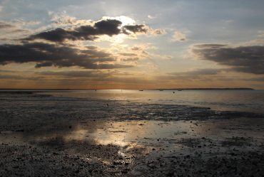 Afternoon sun, Tankerton Bay, from The Street, Whitstable