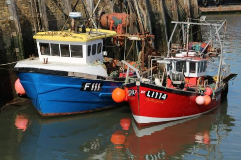 Fishing boats, Charlie Boy and Lisa Marie, Whitstable Harbour, Whitstable