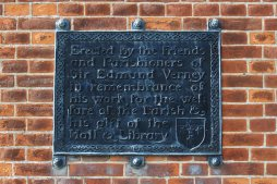 Memorial plaque to Sir Edmund Verney, Clock Tower, East Claydon and Botolph Claydon