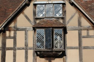 Window, Shakespeare's Birthplace, Stratford-upon-Avon