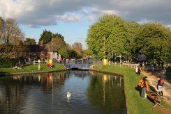 Devizes to Westminster International Canoe Race 2014, Kennet and Avon Canal, Aldermaston Lock